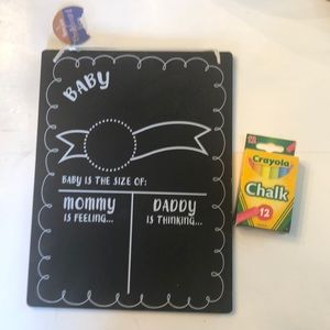 Baby announcement chalk board